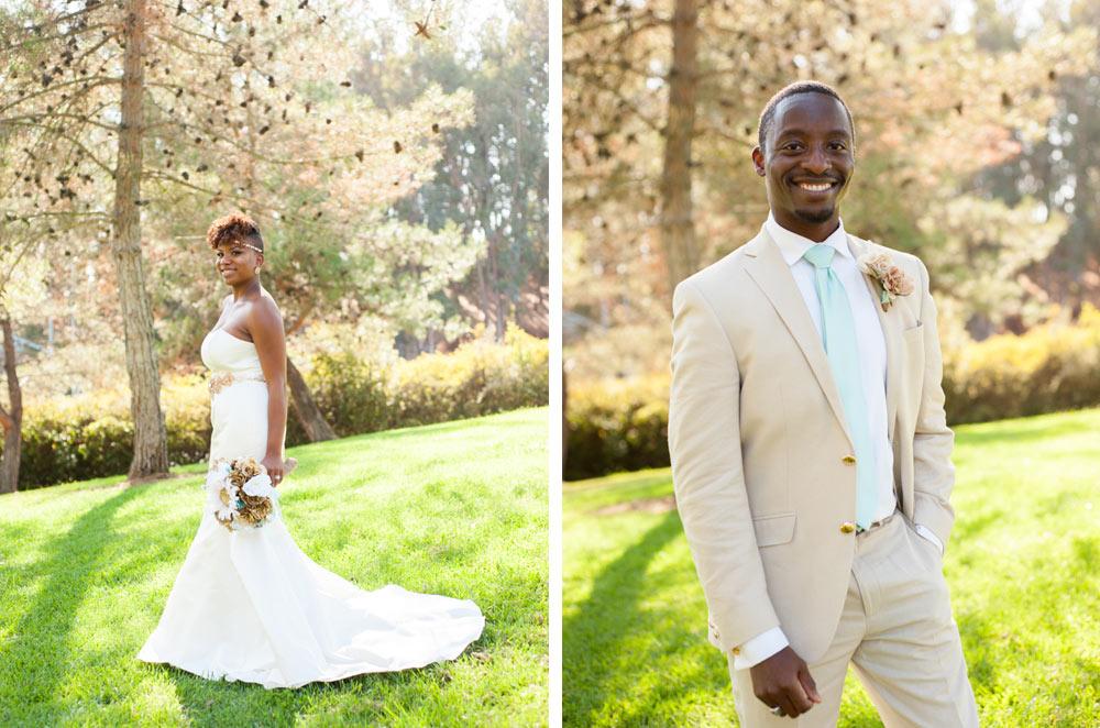 Portrait of Bride and Groom in Vallejo, CA