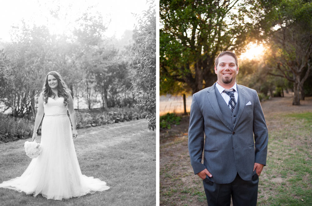 Portraits of bride and groom at Rancho Soquel