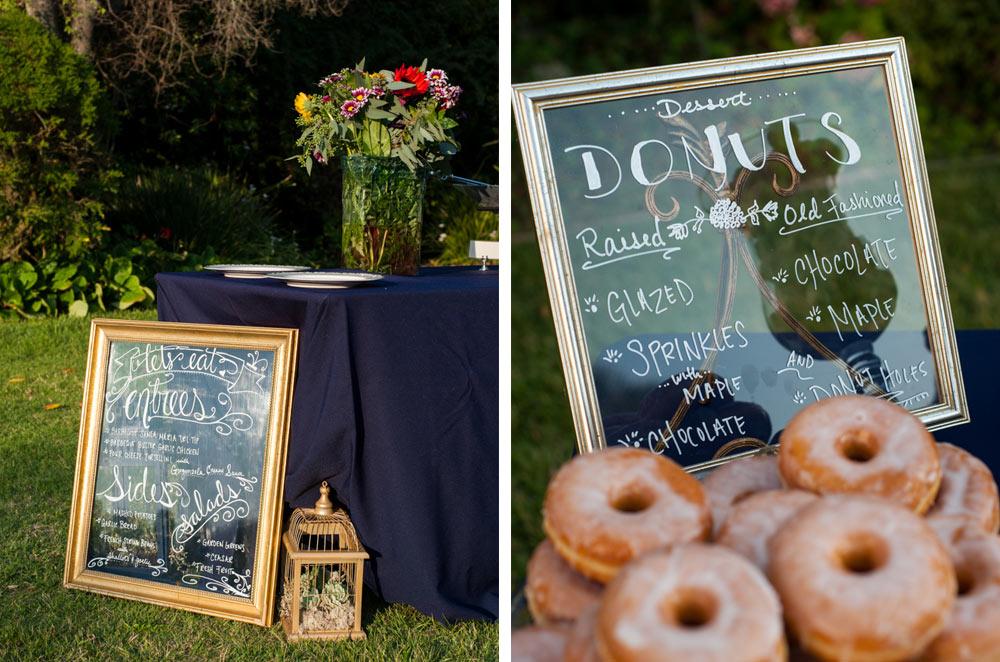 Custom signage and donut bar