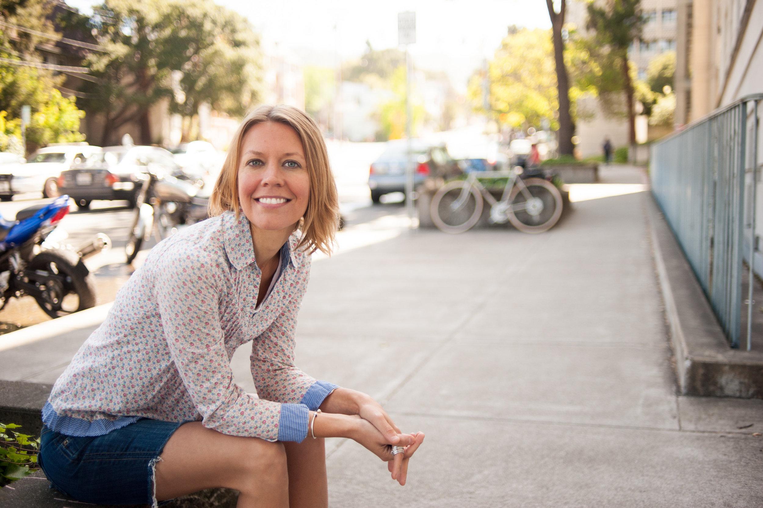 Portrait of woman in downtown Oakland