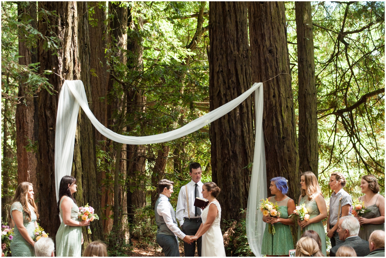 Redwood wedding in the Oakland Hills