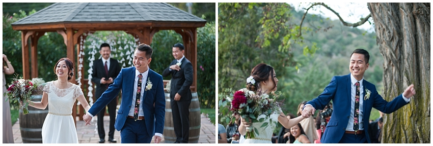 Bride and Groom just married in Sunol, CA