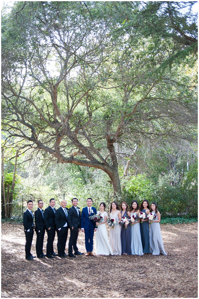 Wedding party portrait in Sunol, CA