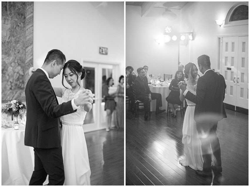Bride and Groom dance at Elliston Vineyards