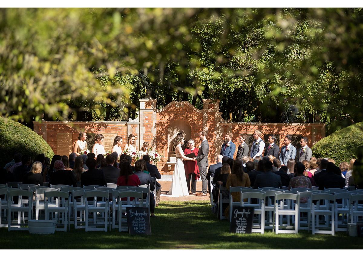 Wedding ceremony at Shakespeare Garden in San Francisco