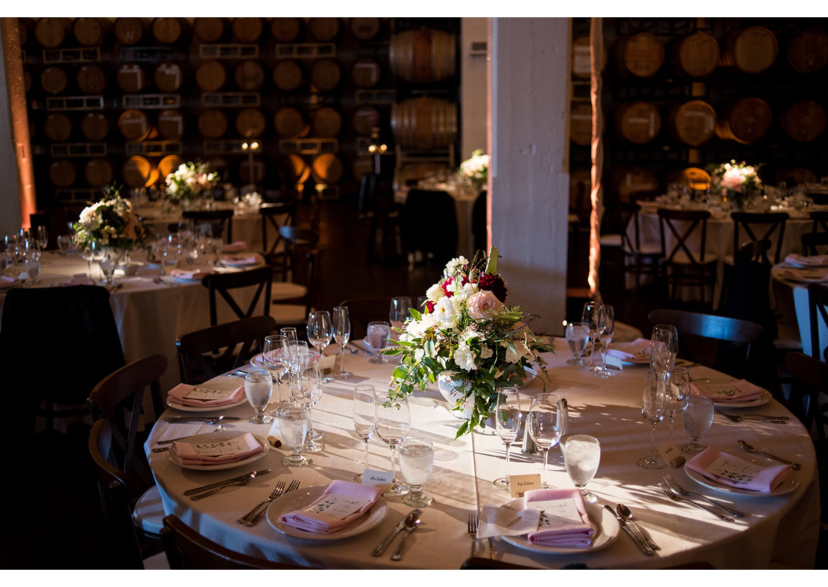 Photo of table details at Dogpatch Wineworks