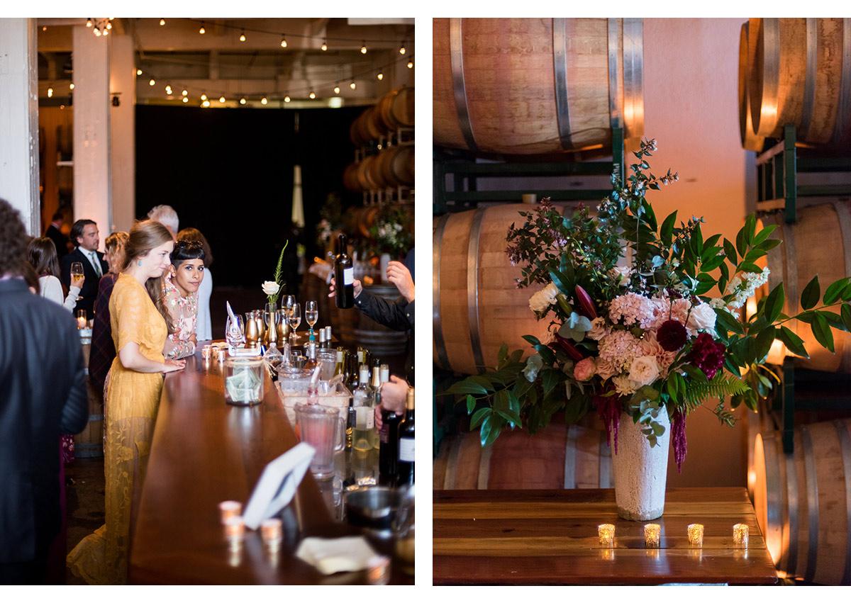 Details of wedding at Dogpatch Wineworks