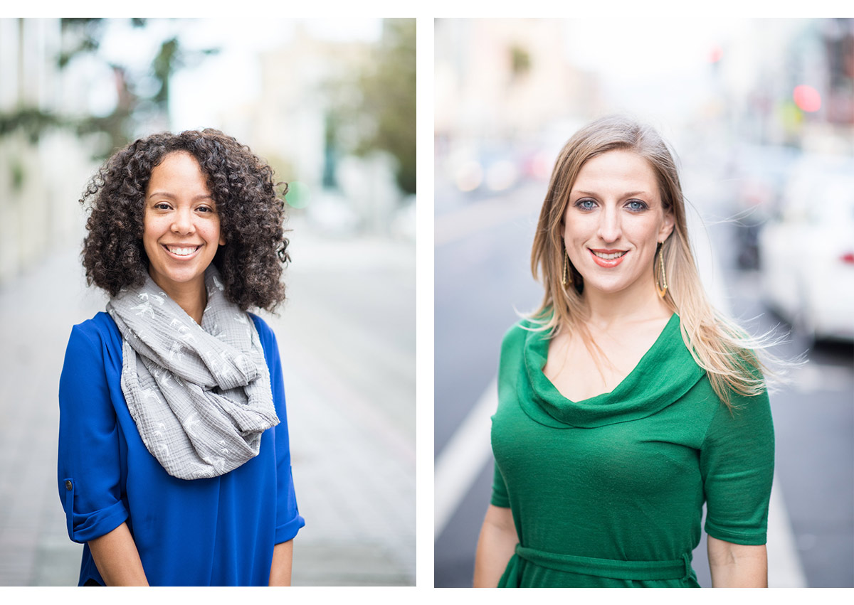 Portraits of two staff members in Oakland