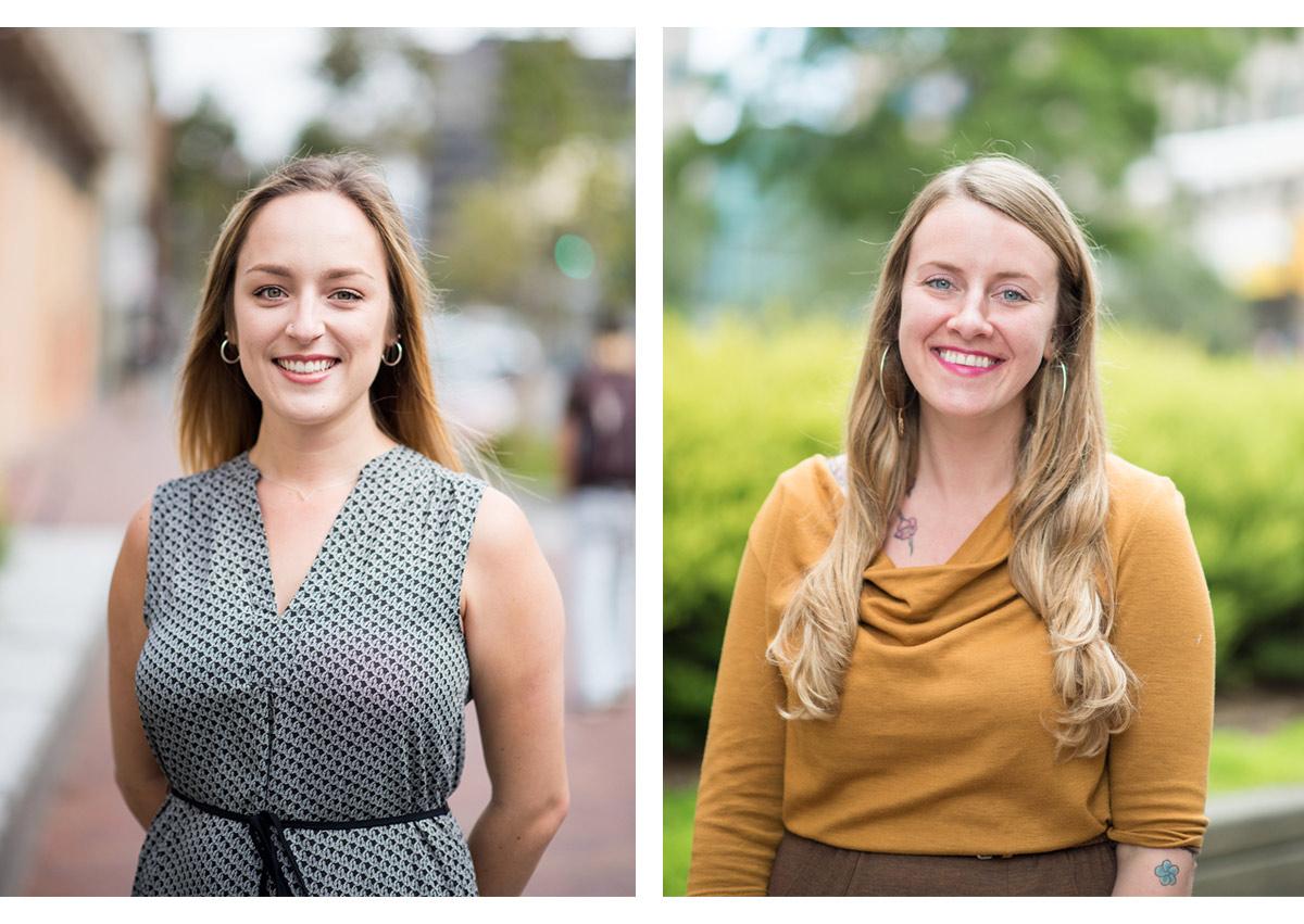 Two headshots of women in nonprofit in Oakland