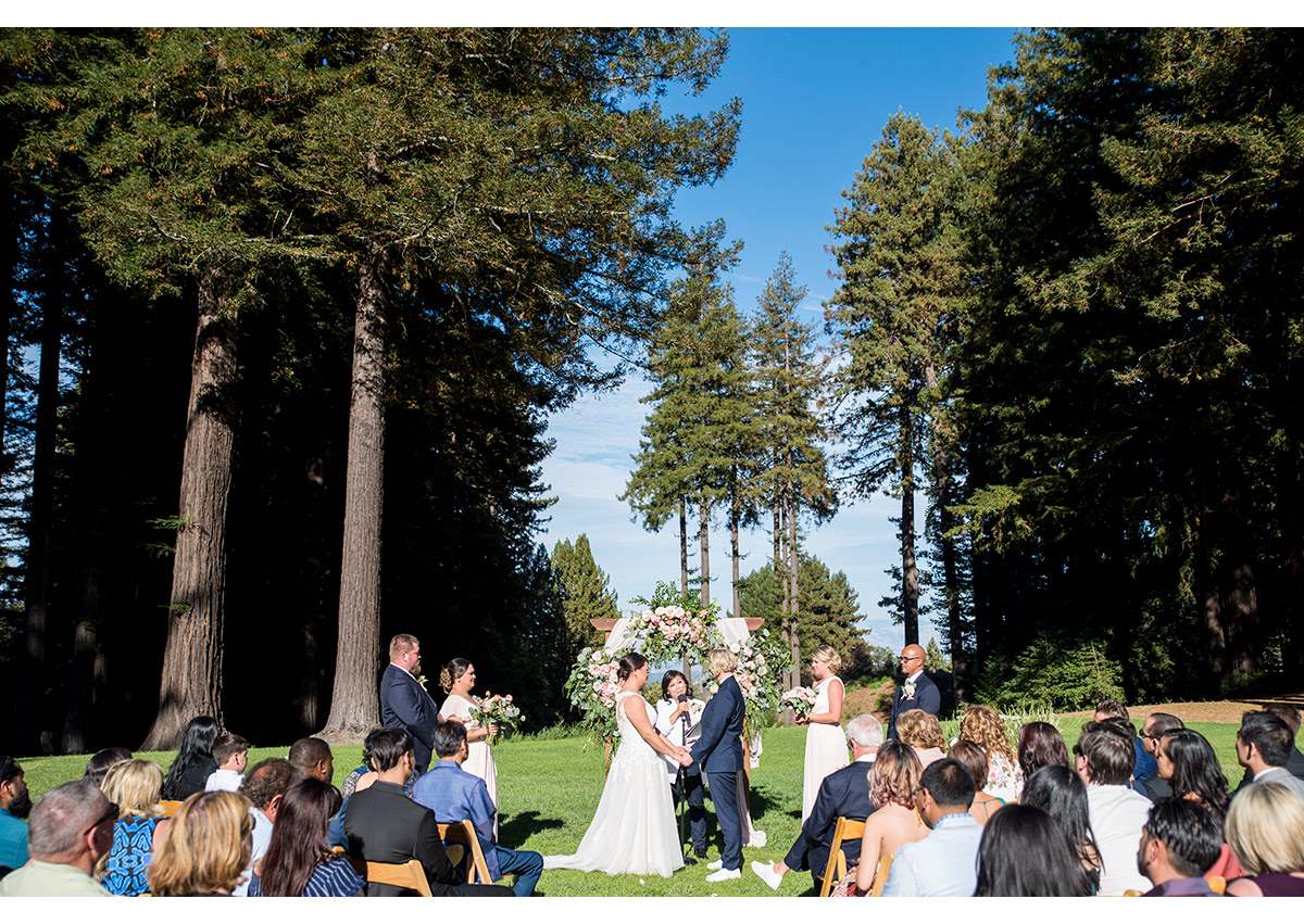 Wedding at The Mountain Terrace in Woodside