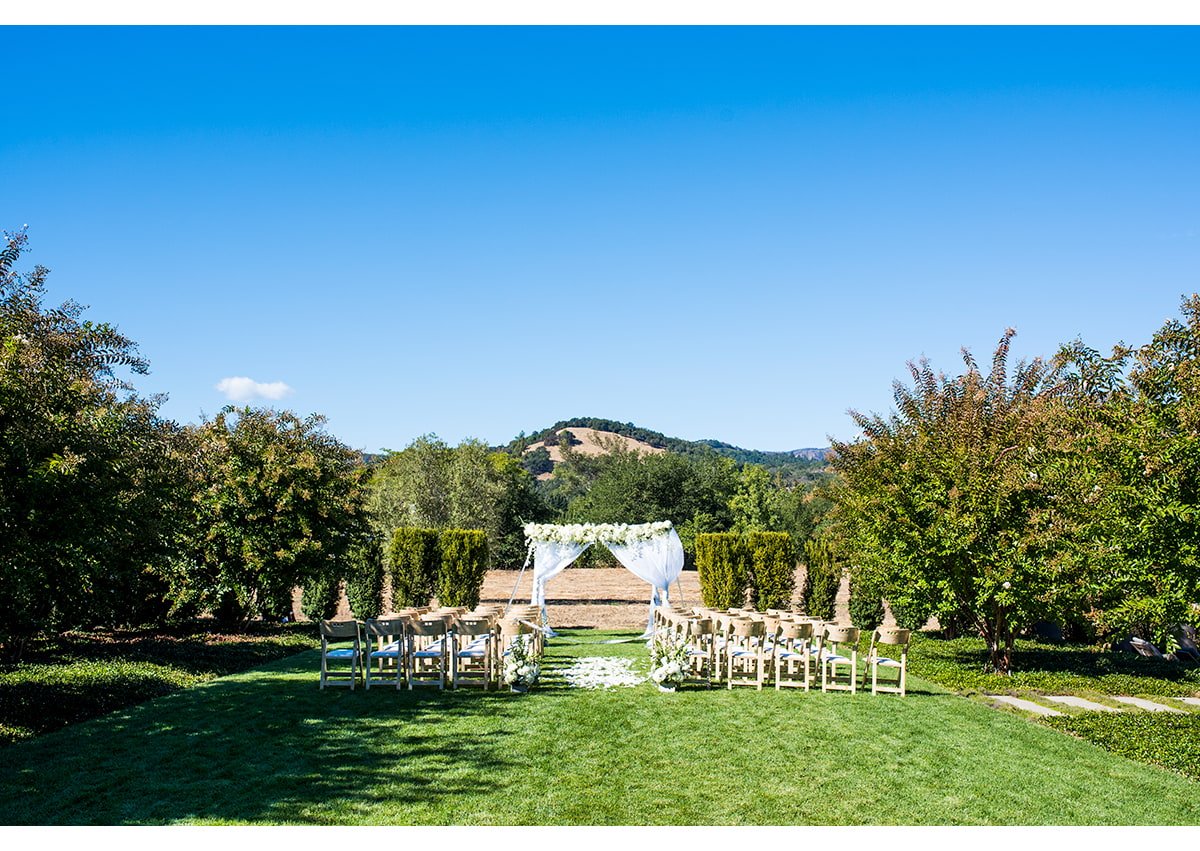 Photo of wedding ceremony layout
