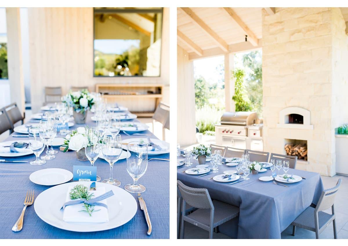 Table details before dinner