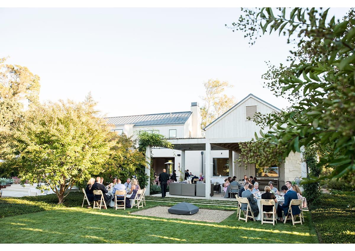 Lovely house wedding in Sonoma