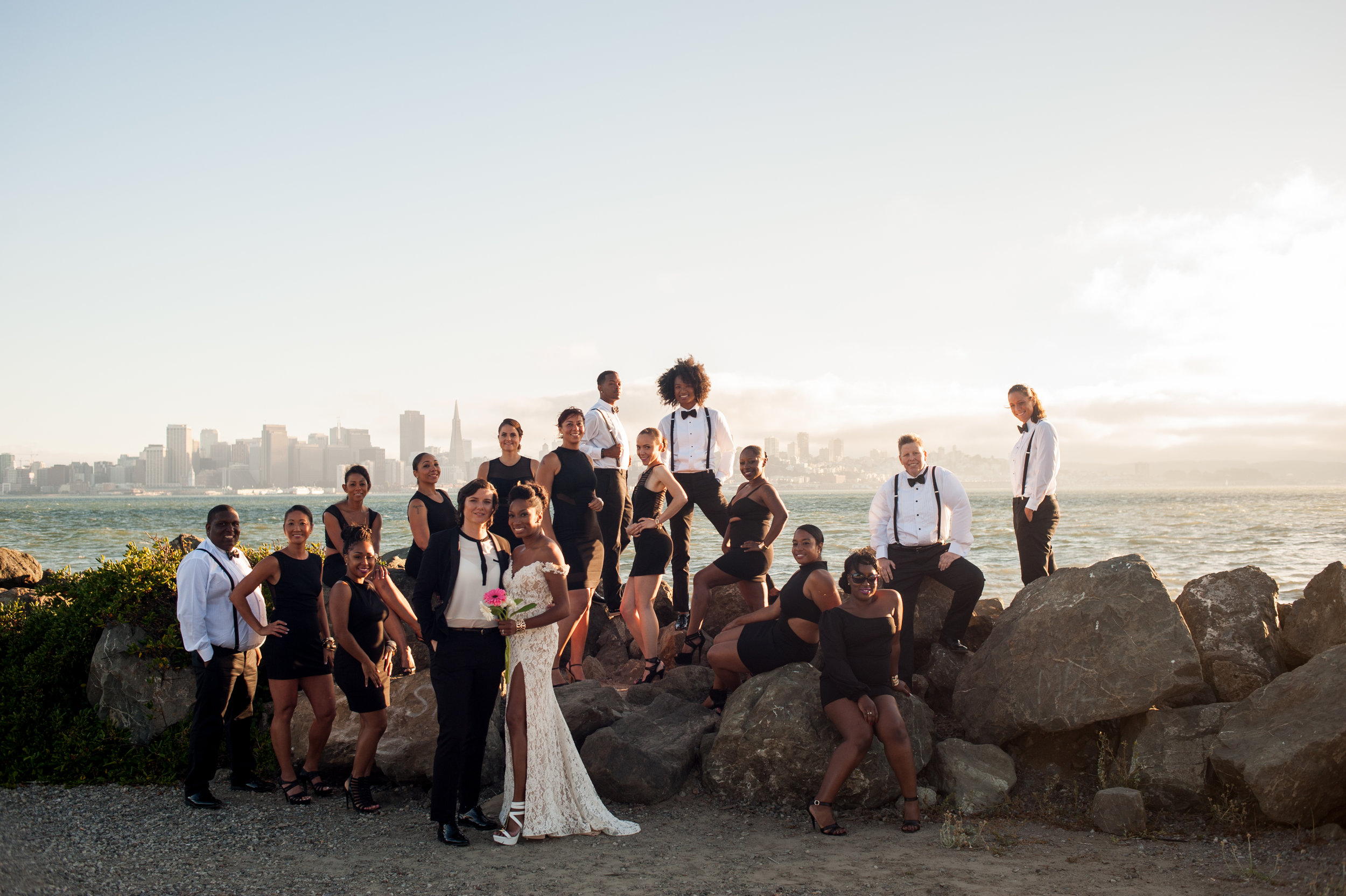 Post Ceremony Photo Shoot on Treasure Island