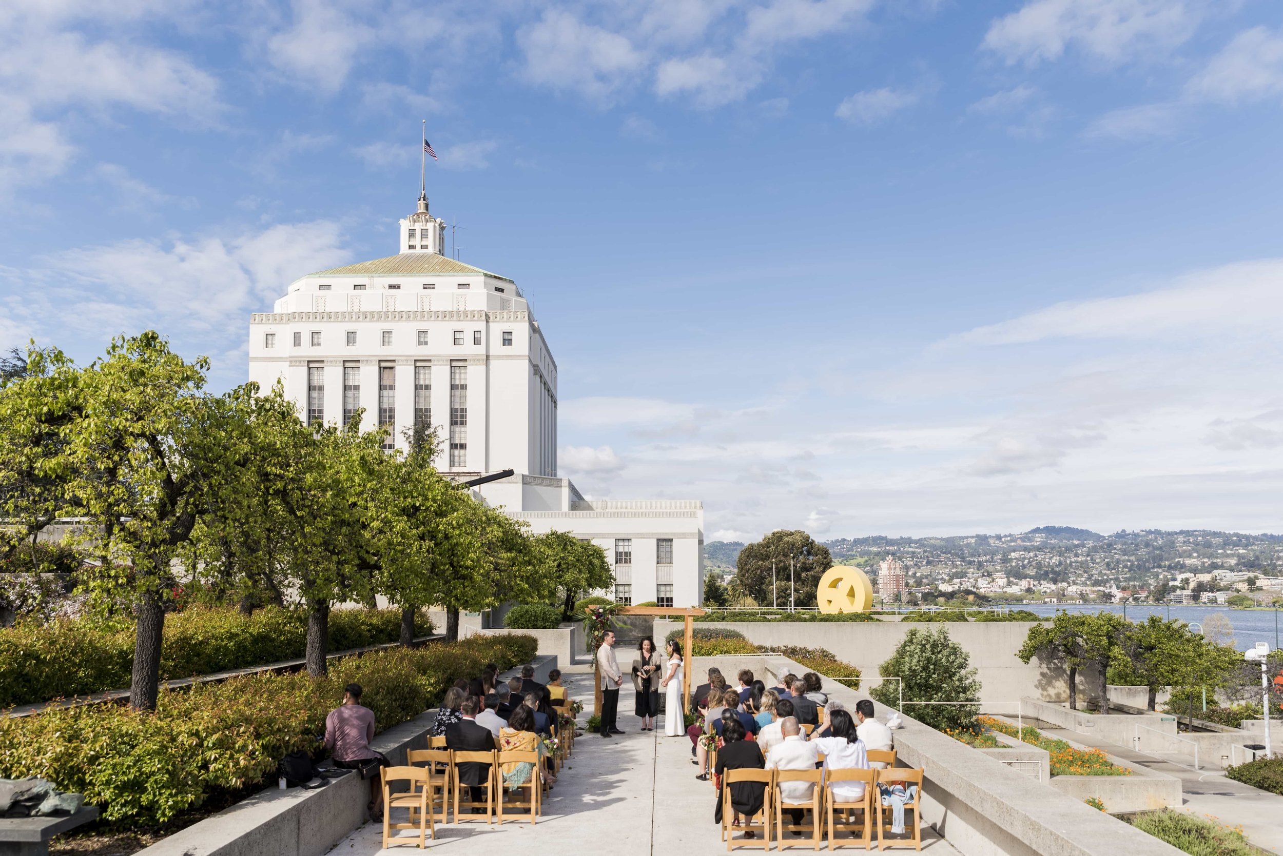 Wedding ceremony at the Oakland Museum