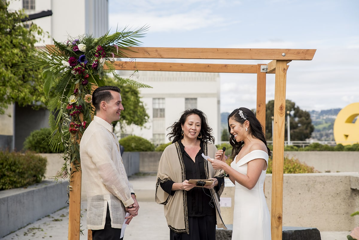 Wedding Ceremony at the Oakland Museum of California