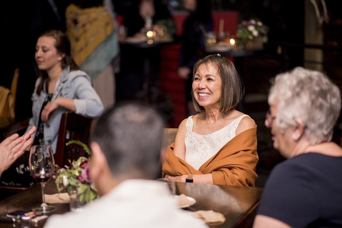 Candid of mother of bride at Duende
