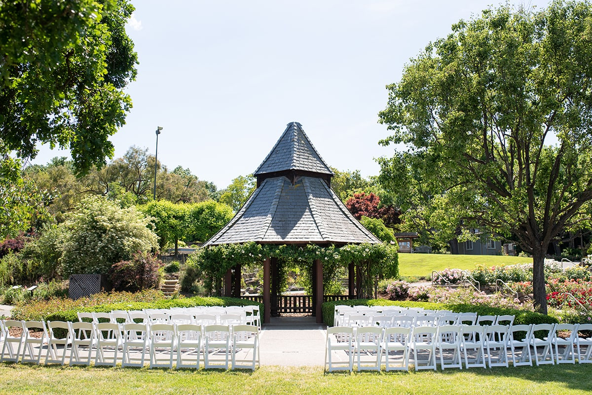 Gazebo ceremony site at the Gardens at Heather Farm