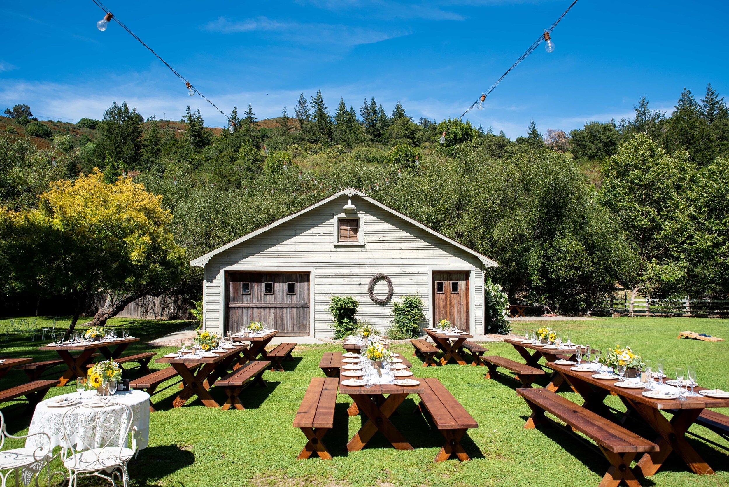 Barn and wedding reception site at Radonich Ranch