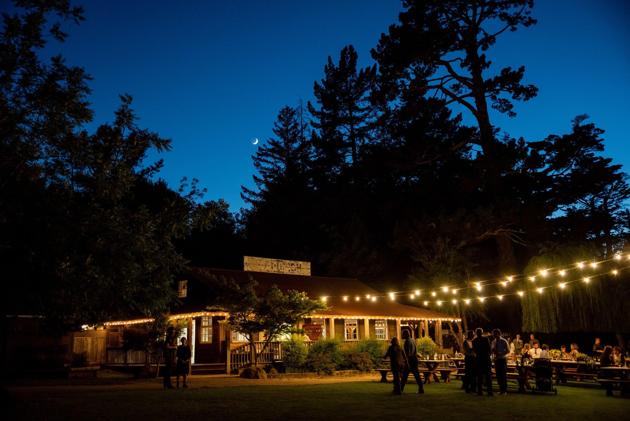 Twilight at Radonich Ranch wedding