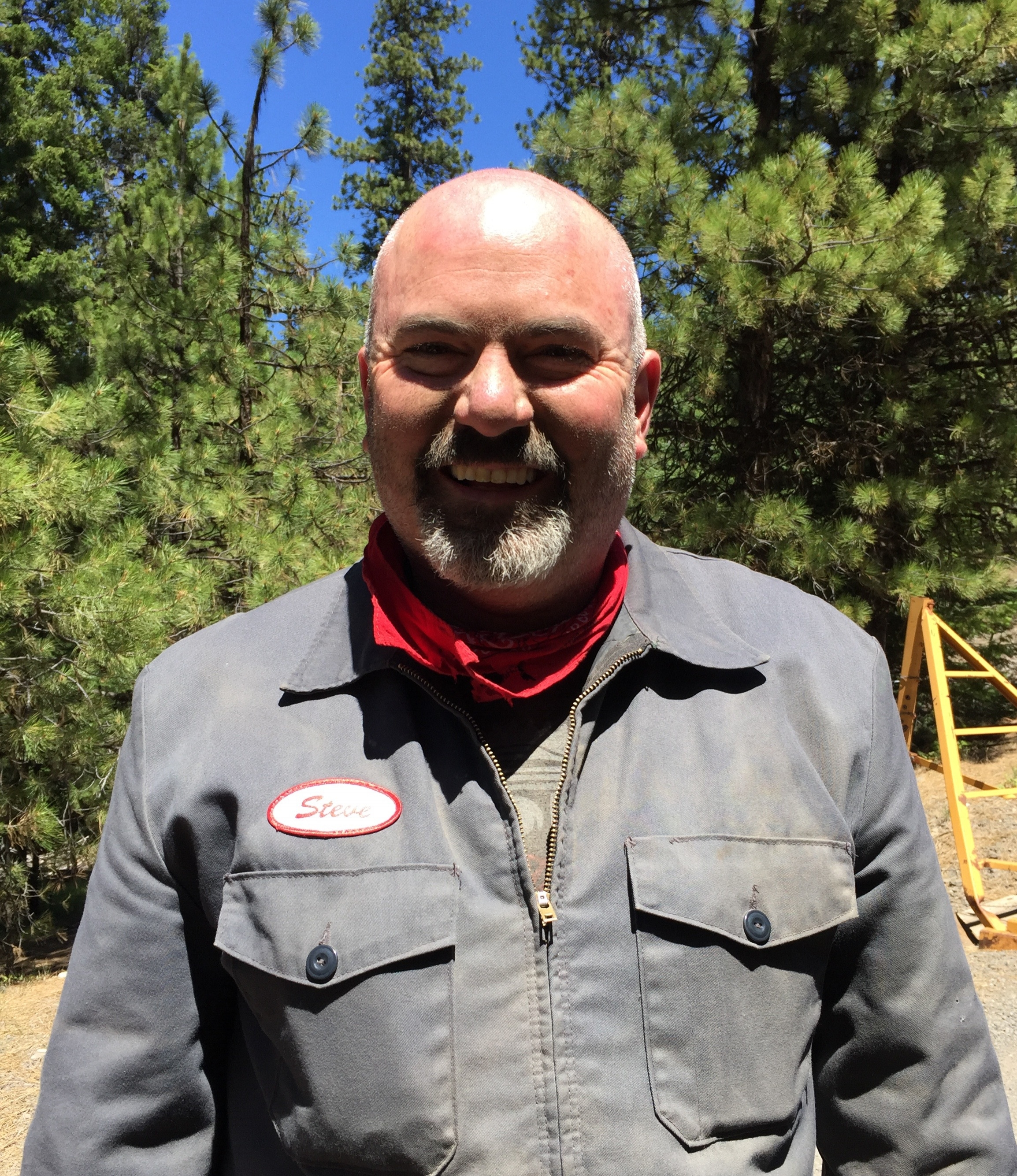 "STEVE CALLAN FOUNDING MEMBER  Born and raised in the suburban wasteland of Fremont, California, Steve Callan acquired his first motorcycle – a Sears Allstate 50cc – at the tender age of 12. Soon he was hooked on RD 400's and moved to San Francisco to hone his urban assault tactics. Even though SF is the motorcycle center of the universe, he realized cheaper living could equal more motorcycles and moved to Portland. After meeting Patrick Leyshock and Zach Hull, SFRC was born. A mechanic by trade, Callan has owned, modified, and rebuilt many bikes. His stable of mounts now includes an FZR100, T500 Titan and a RMX250 for the dirty work. Riding and racing motorcycles is his first love when he's not chomping on tasty ham hocks. Callan says, ""Come ride with us and try to keep up!"""
