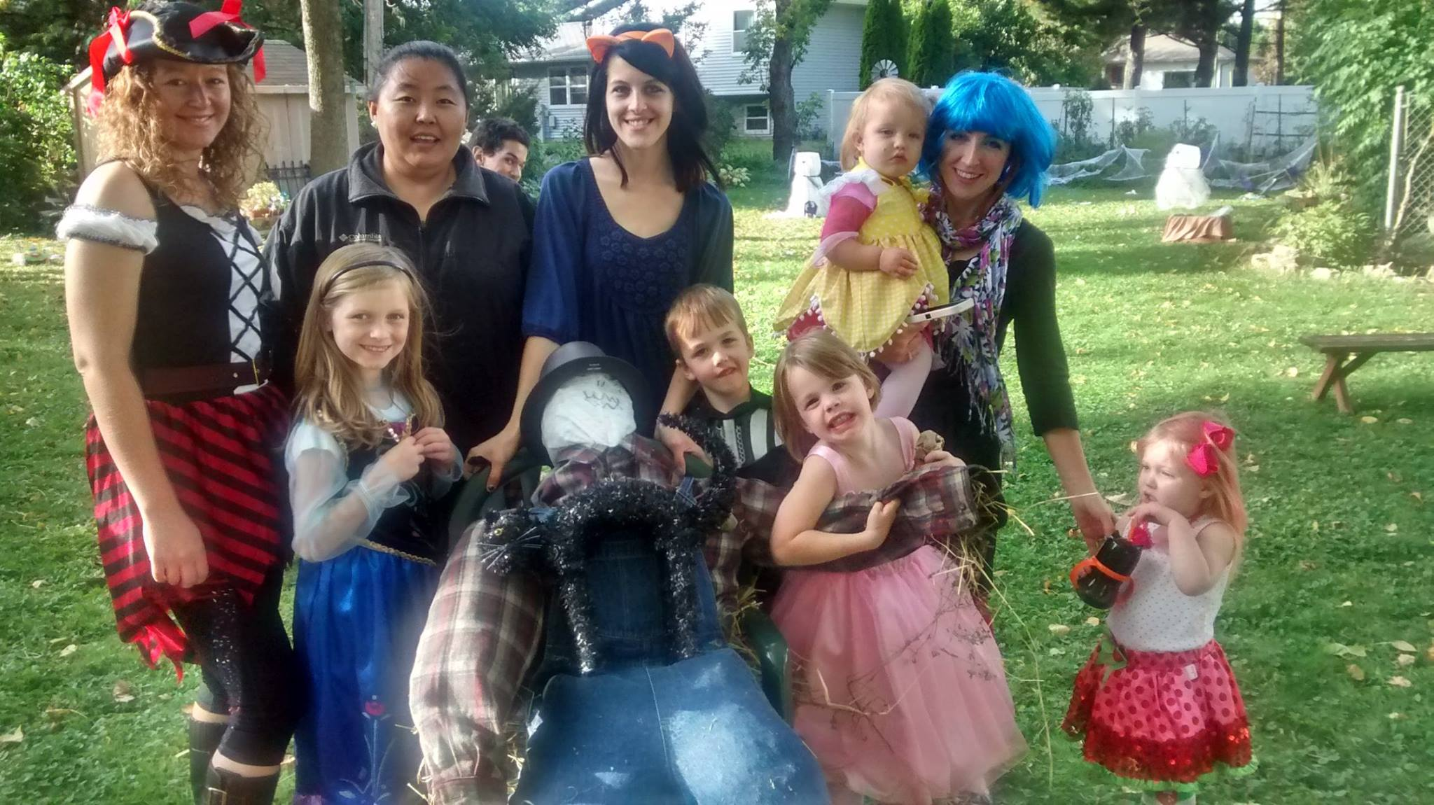 Fall festival scarecrow building contest