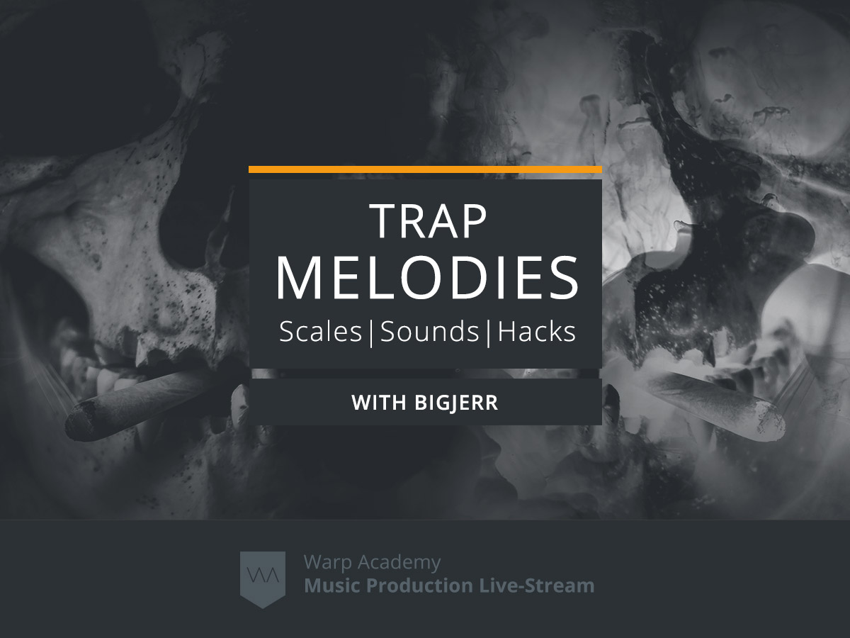 Saturday July 6 - Join us as Ableton Certified Trainer and Bass Music producer BigJerr explores popular trap scales, sounds, essential plug-ins, processing tips, chord hacks as well as advanced sample manipulation, using examples built from the ground up every step of the way. - Here is your coupon code: BIGmelodies20$9 off the Trap Melodies stream
