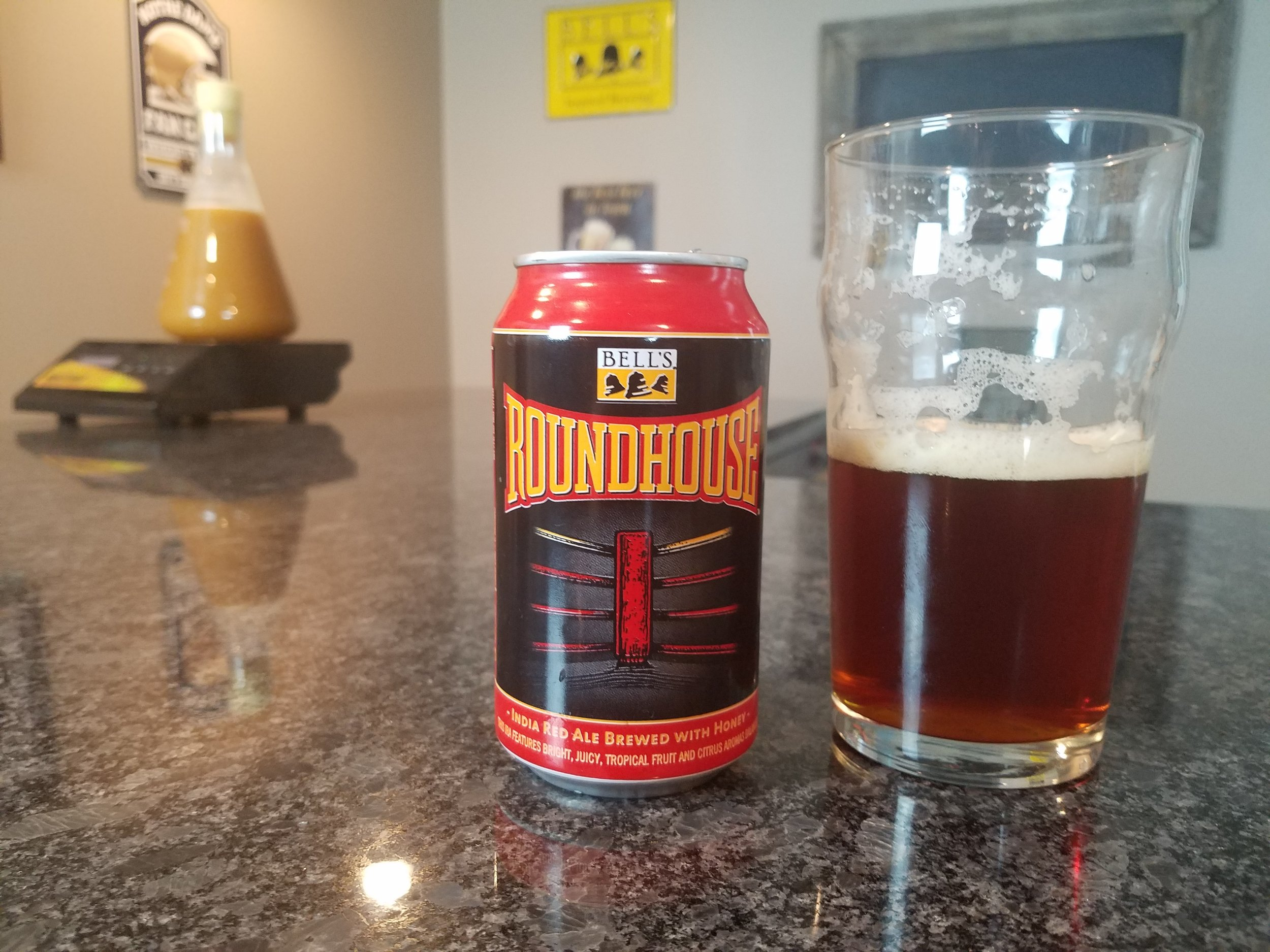 Roundhouse 7.5% ABV 50 IBUs - Want to see the Video review? Click on the image.