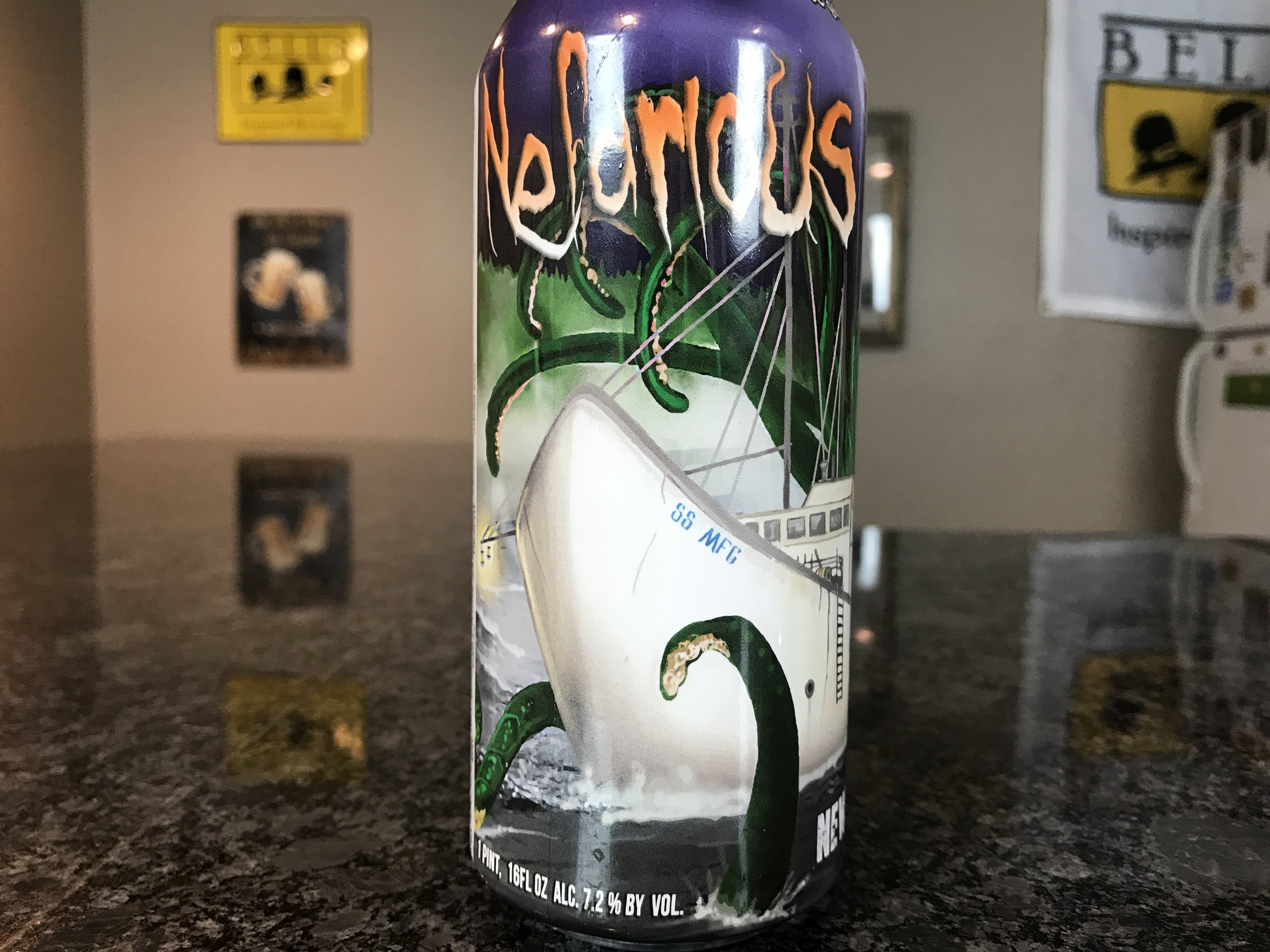 NEFARIOUS HARBOR7.2% ABV 30 IBUs - Want to see the Video review? Click on the image.