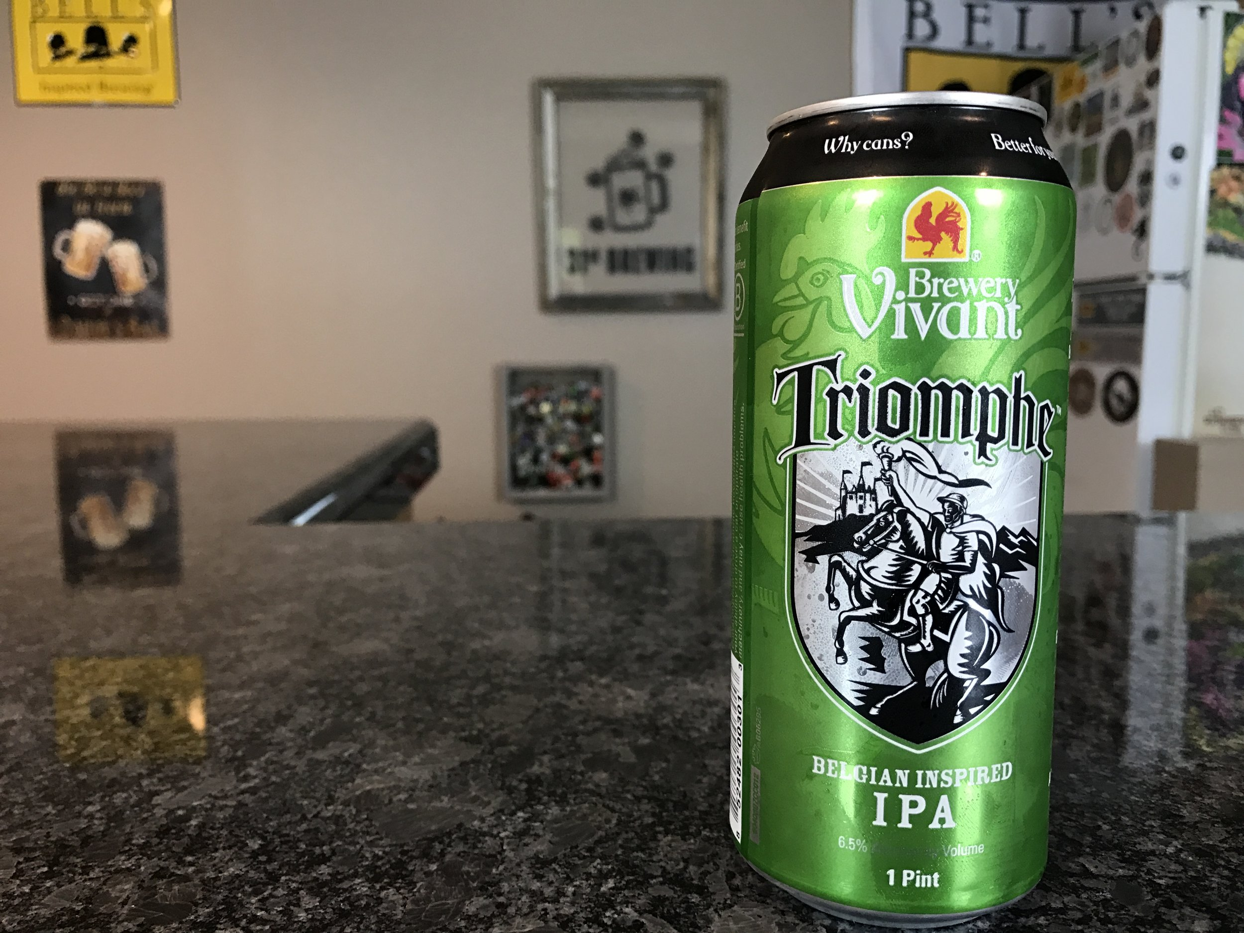TRIOMPHE 6.5% ABV 47 IBUS - Want to see the Video review? Click on the image.