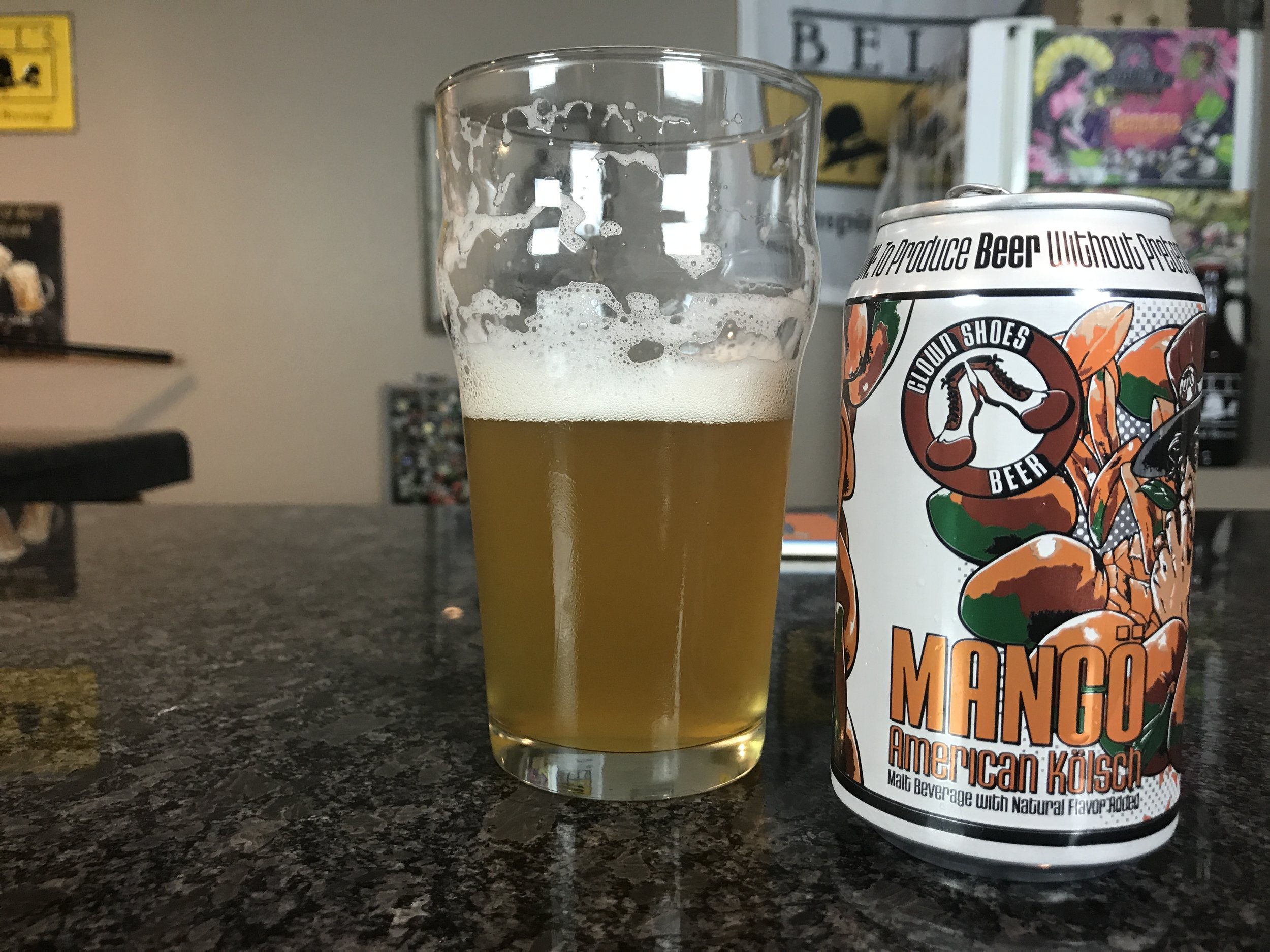 Mango American Kolsh 6% ABV - Want to see the Video review? Click on the image.