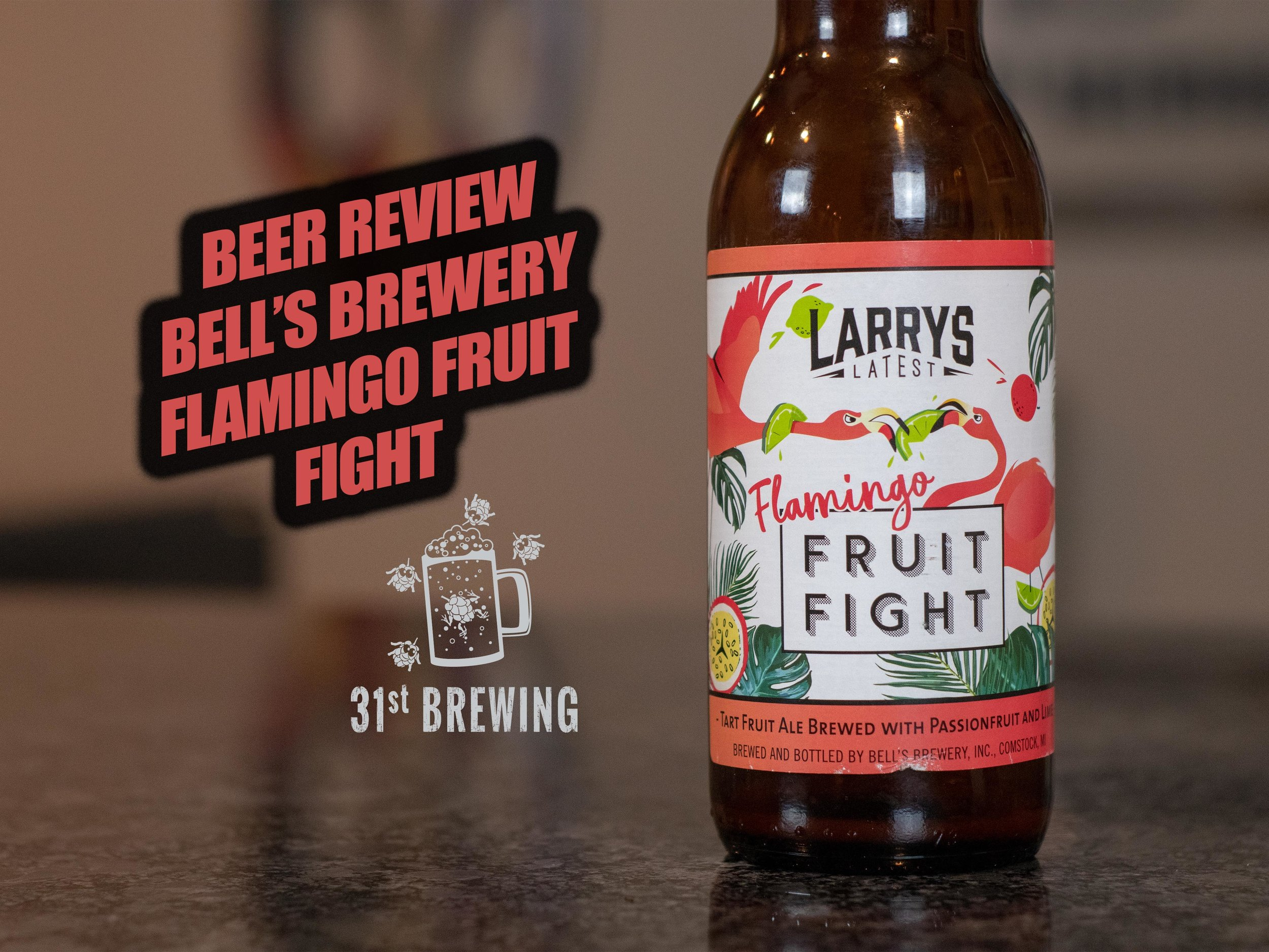 Flamingo Fruit Fight 5% ABV - Want to see the Video Review? Click on the image