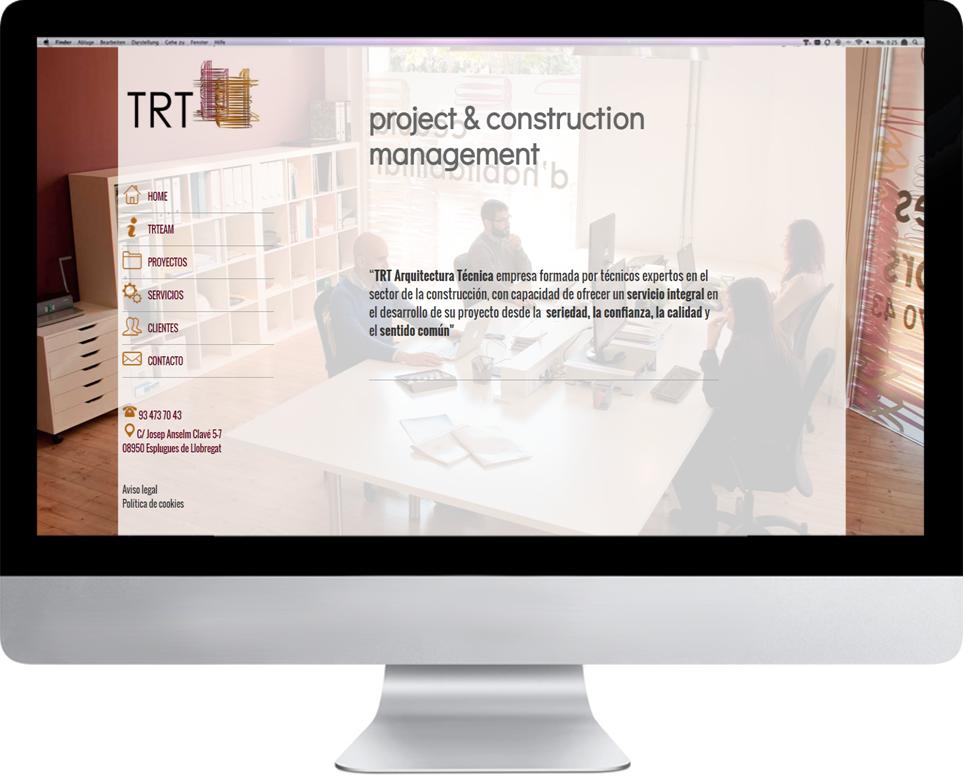 Responsive Web a medida   Fotografía  Estudio corporativo, Diseño y Desarrollo  www.trtarquitecturatectica.com