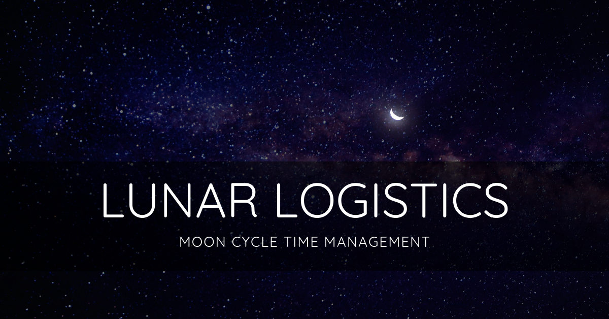 LUNAR LOGISTICS moon cycle time management accountability focus group beta testing