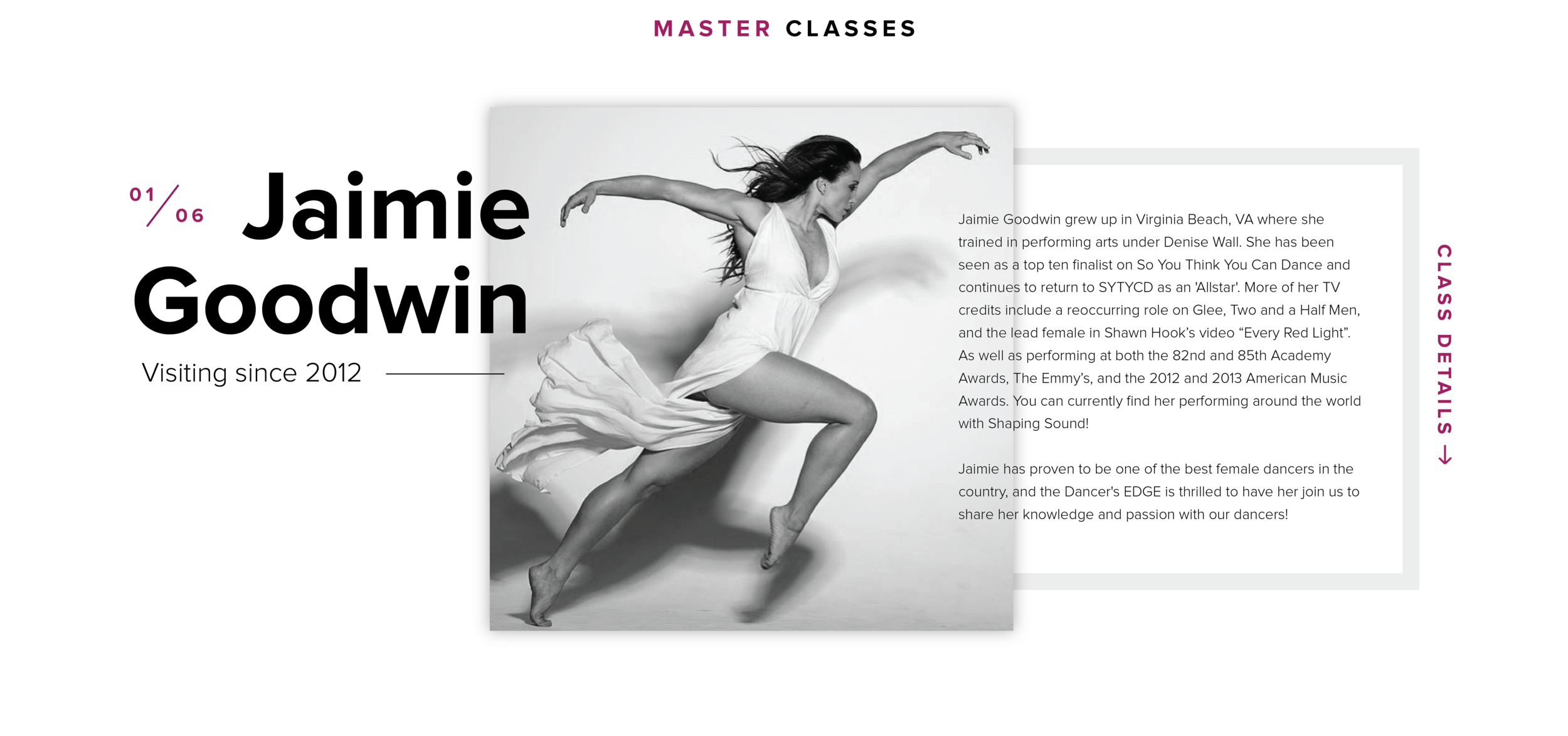 Jaimie Goodwin Masterclass at the Dancer's EDGE