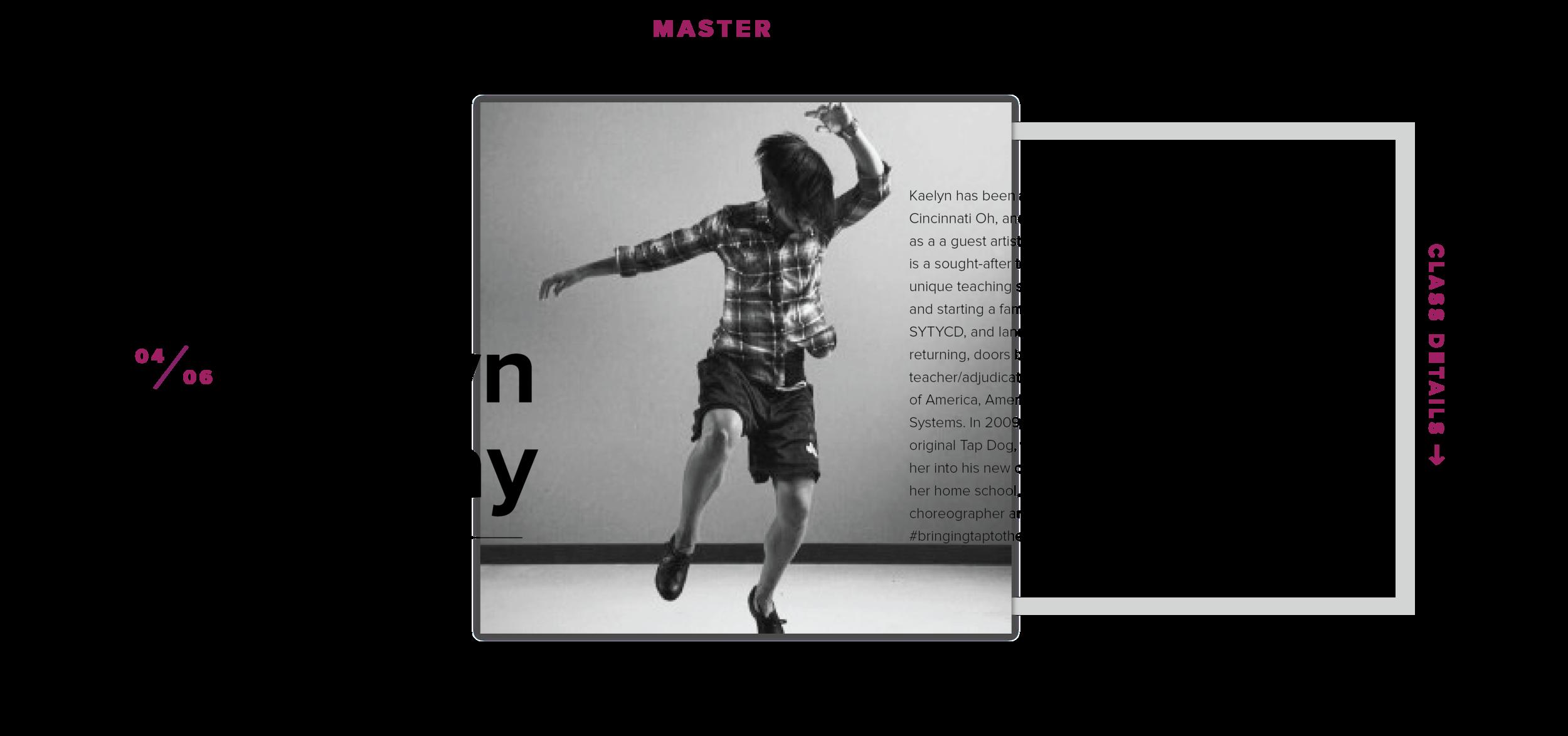 Kaelyn Gray Master Classes at the Dancer's EDGGE