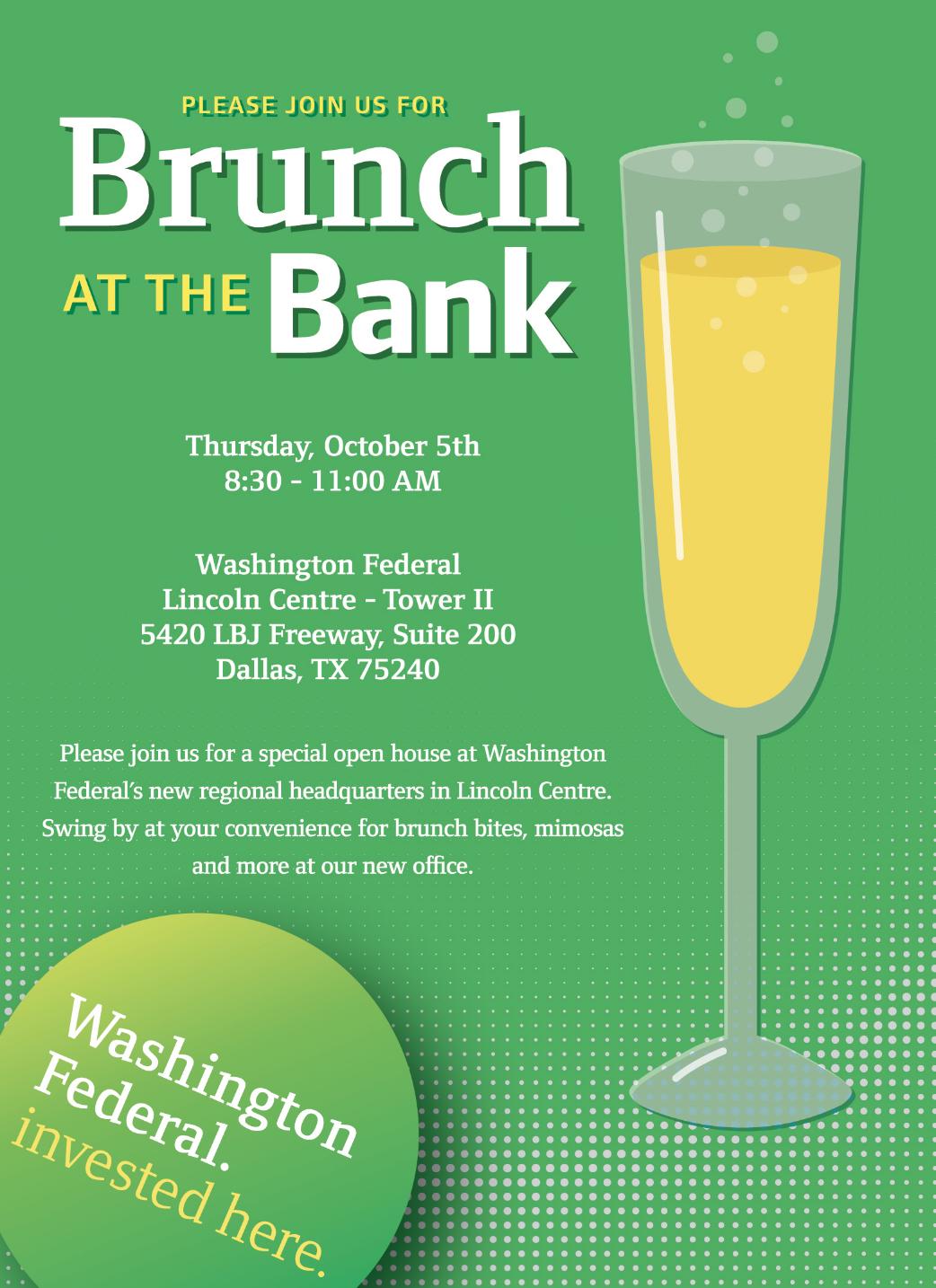 Brunch at the Bank Invitation