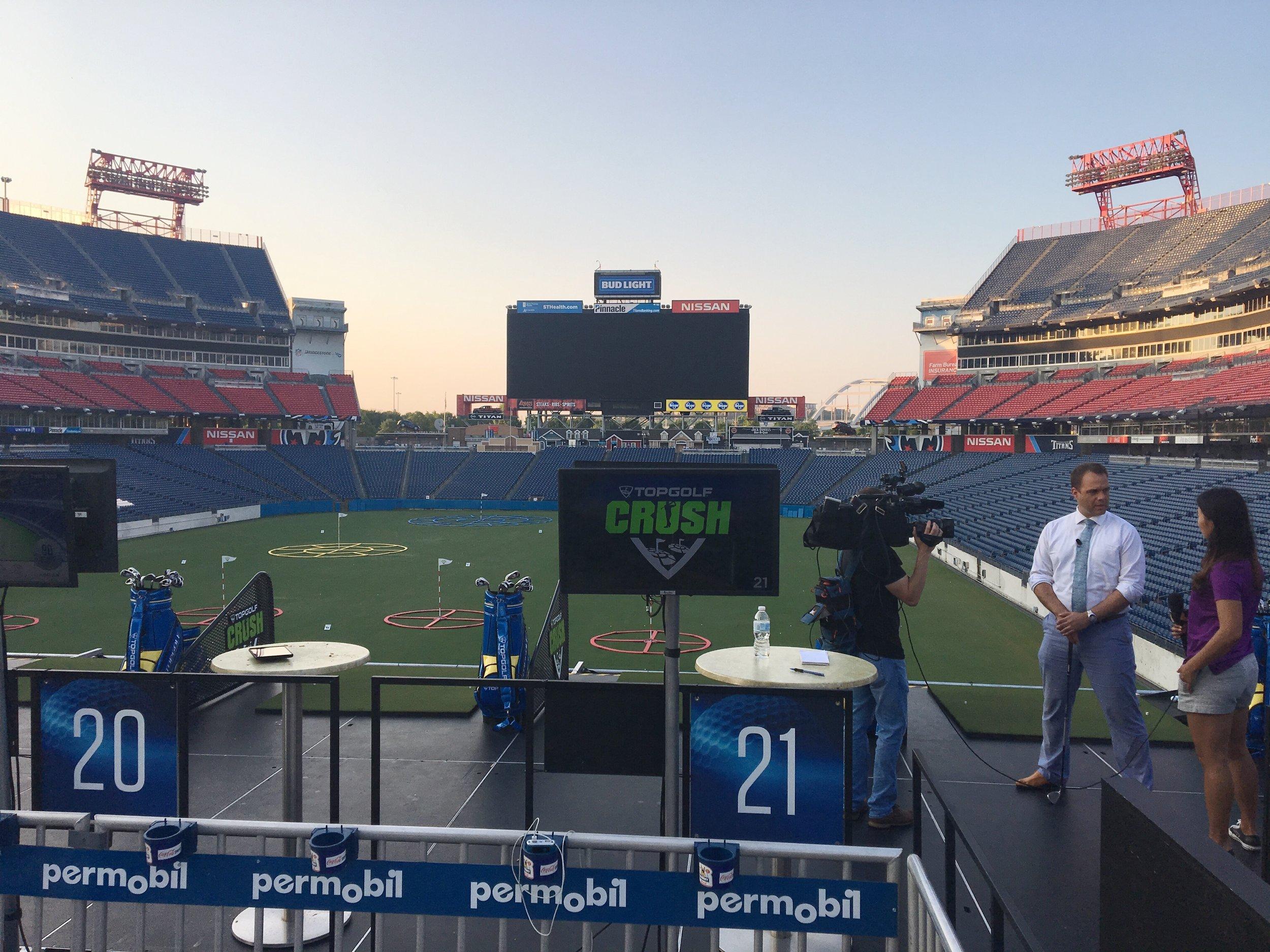Topgolf Crush at Nissan Stadium in Nashville