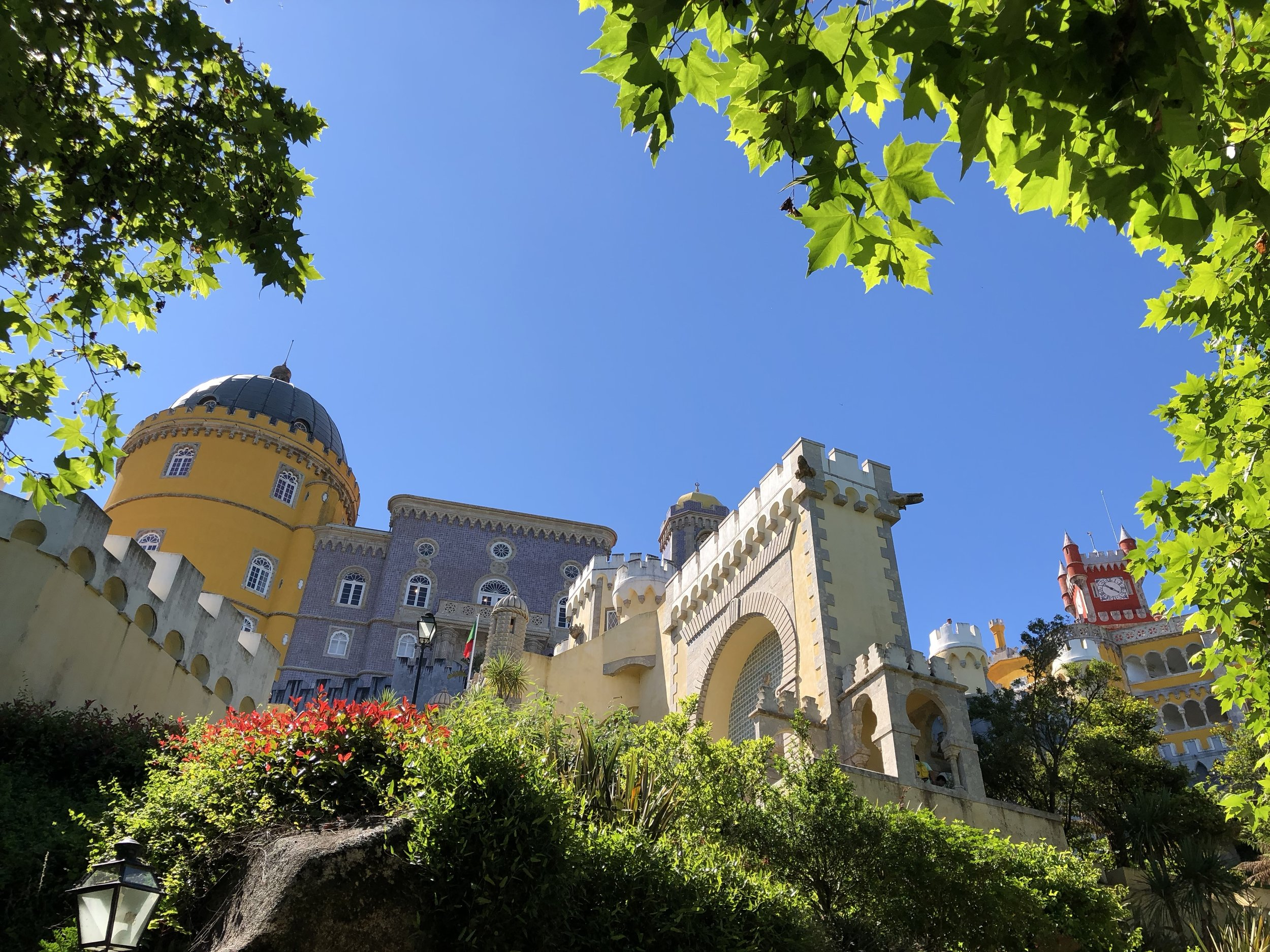 We visited several castles on our trip, including Pena Palace in Sintra.