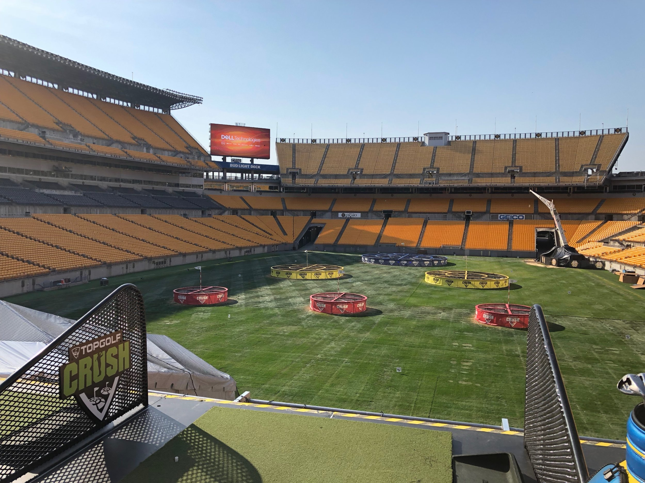 Topgolf Crush brought the iconic Topgolf experience to Heinz Field in Pittsburgh.
