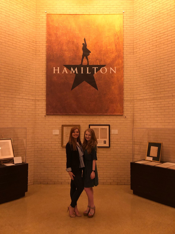 Ashton  and  Teddi  attend press night for HAMILTON.