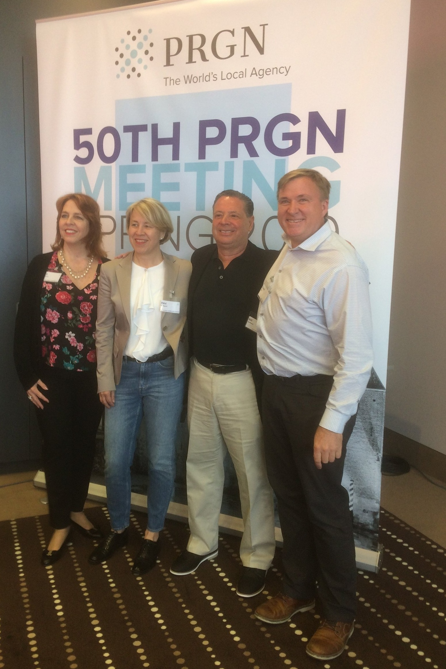 Left to right: C.L. Conroy, president & CEO of The Conroy Martinez Group; Päivi Holmquist, managing director of hasan communications; Bill Southard, founder, chief executive officer of Southard Communications and David Wills, senior vice president of Media Profile.