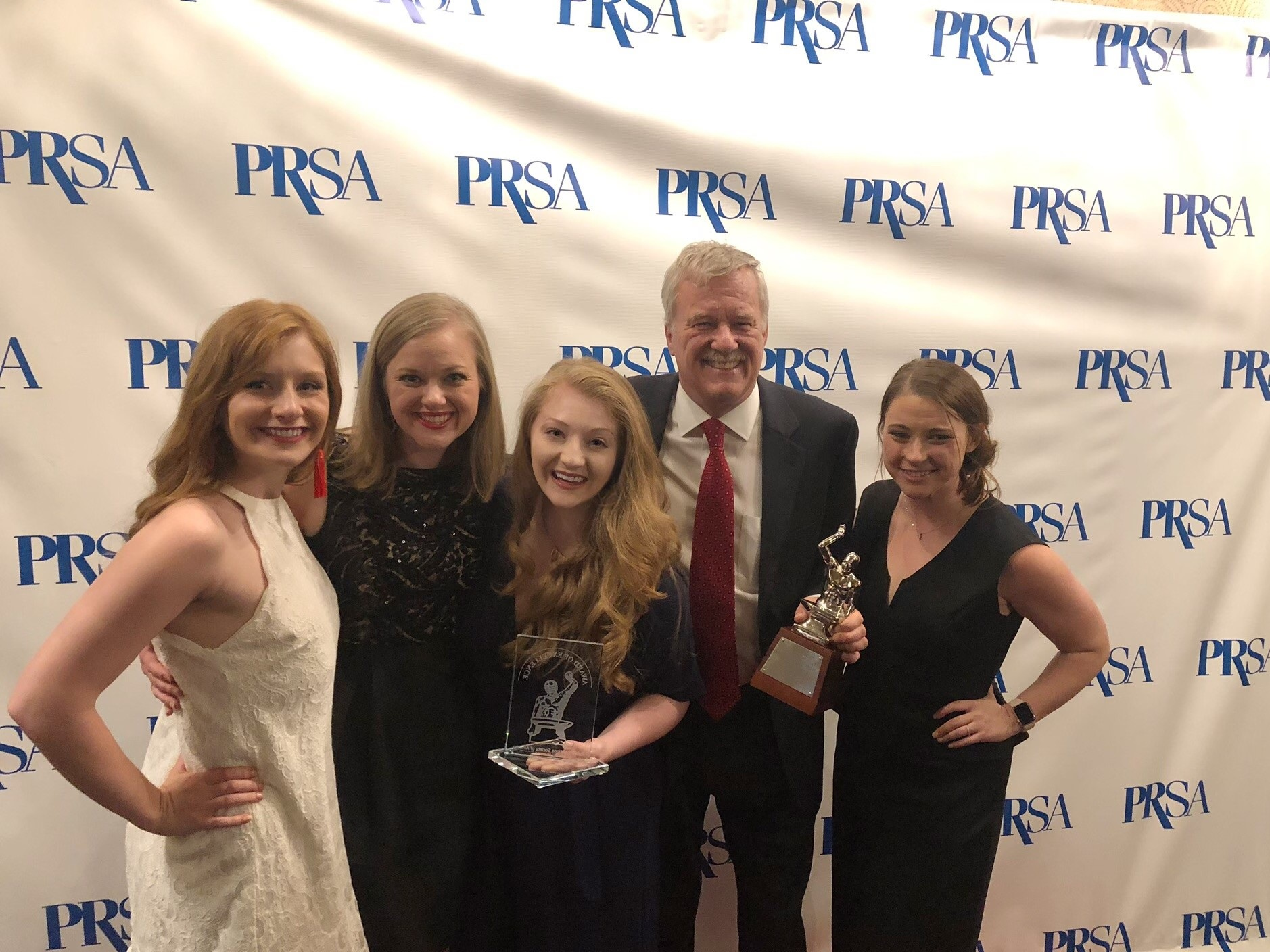 The Three Box team celebrates bringing home a Silver Anvil Award and a Silver Anvil Award of honor in New York City.