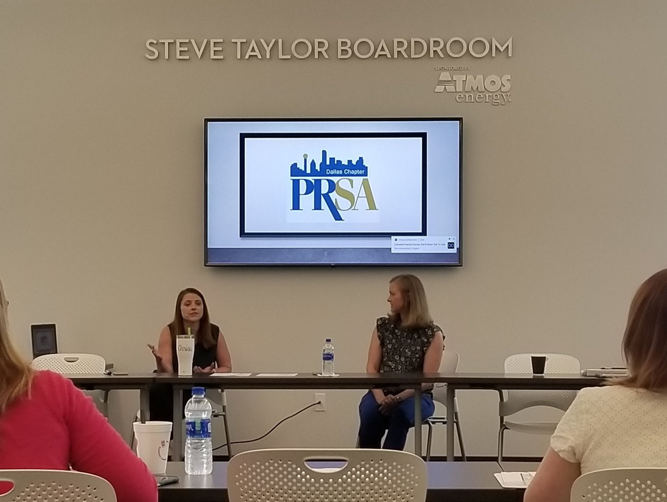 Christi Matthys  (left) and  Amanda Hill  (right) shared a few tips on business finance for communicators with the 2019 PRSA Dallas Leadership Class.