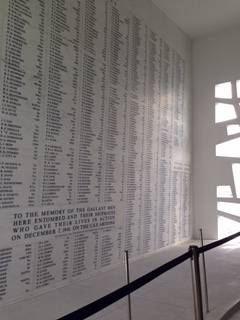 Roll call of those we lost on the USS Arizona, December 7, 1941, Pearl Harbor, HI