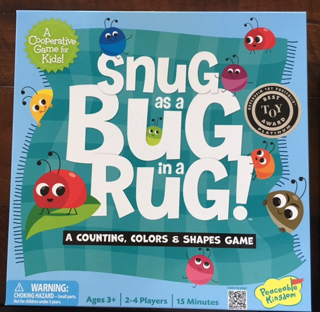 - Snug as a Bug in a Rug uses color, counting, and shapes.