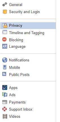 GrandyCamp Facebook Privacy Settings