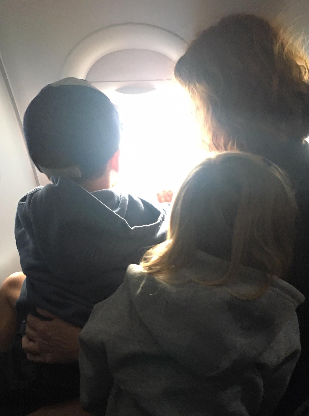 Their first airplane ride!