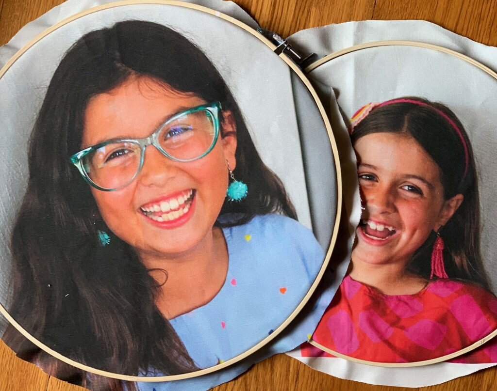 Photo from Spoonflower blog post on embroidered school pictures