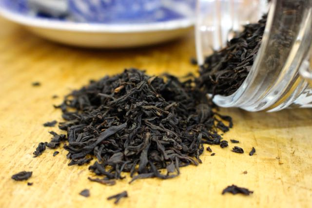 Lapsang Souchong    Unique large leaf tea distinguished by its smoky aroma and flavour. The tarry taste is acquired through drying over pine wood fires.